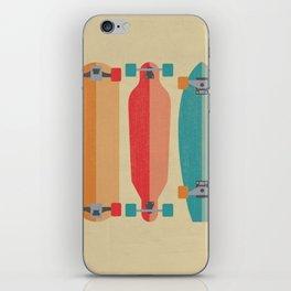 Three types of skateboards iPhone Skin