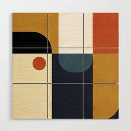 mid century abstract shapes fall winter 4 Wood Wall Art