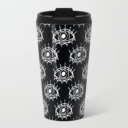 Eye of wisdom pattern-Black & White- Mix & Match with Simplicity of Life Travel Mug