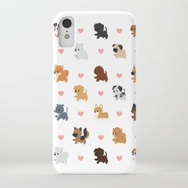 Dog Breeds with Hearts iPhone Case