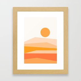 Abstract Landscape 09 Orange Framed Art Print
