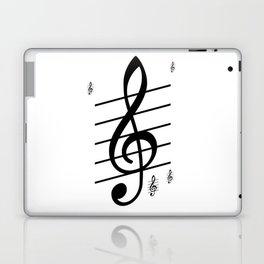 der Schlüssel zum Herz ist die Melodie   (A7 B0022) Laptop & iPad Skin