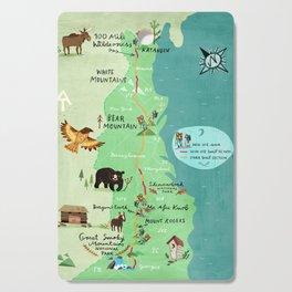 Appalachian Trail Hiking Map Cutting Board