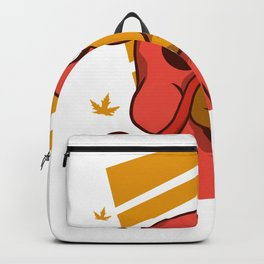 Thanksgiving Turkey Face Backpack