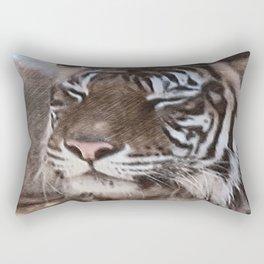 Impressive Animal - sketchy Tiger Rectangular Pillow