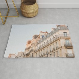 Pastel Buildings in the Left Bank - Paris Photography Rug