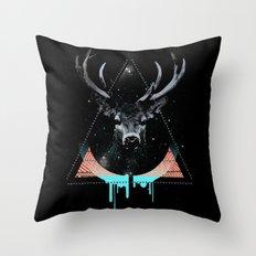 The Blue Deer Throw Pillow