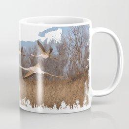 flamingo fly Coffee Mug