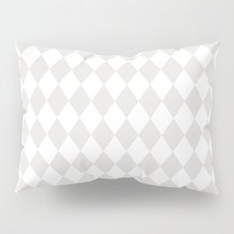 Rhombus (Platinum/White) Pillow Sham