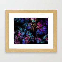 Fractal leaves Framed Art Print