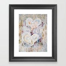 winter Hearts-2 Framed Art Print