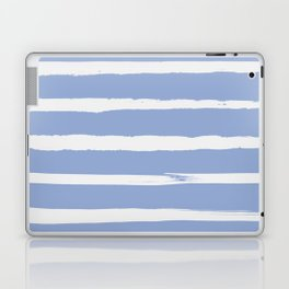 Irregular Hand Painted Stripes Light Blue Laptop & iPad Skin