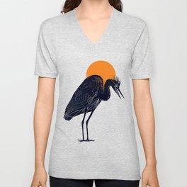 Heron Unisex V-Neck