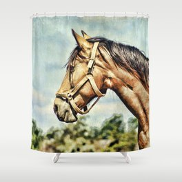 Horse Profile Shower Curtain