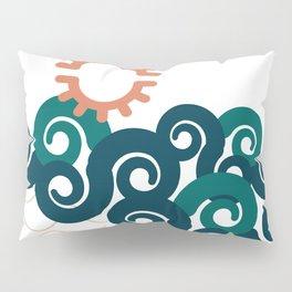 sun in a beach Pillow Sham