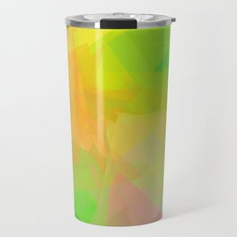 Triangle Pattern Tropical Colors, Green Yellow Design Travel Mug