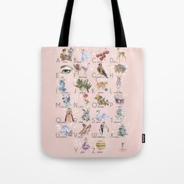 English alphabet for girls Tote Bag