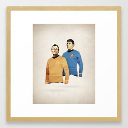 Polygon Heroes - Star Trek O.G. Framed Art Print