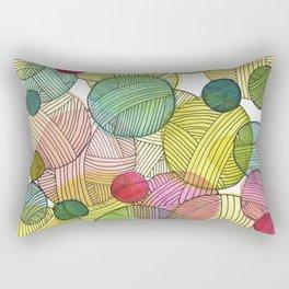 Yarn Stash Rectangular Pillow