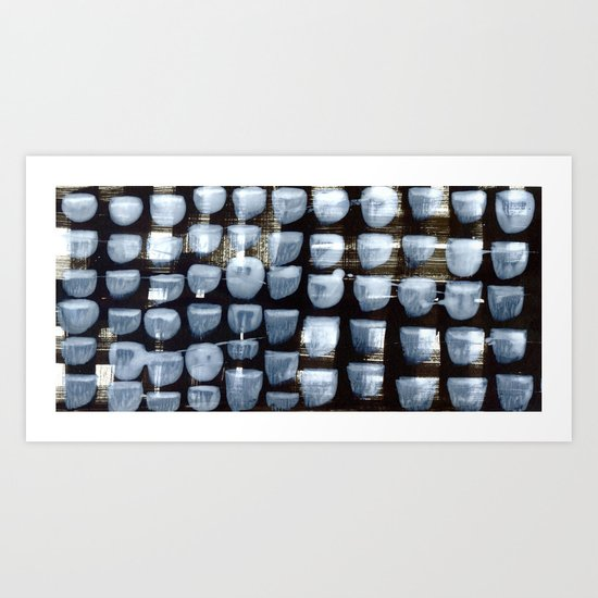 variation in black and grey Art Print