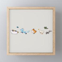 Minion March 2 Framed Mini Art Print