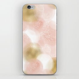 Rose Gold and Gold Blush iPhone Skin