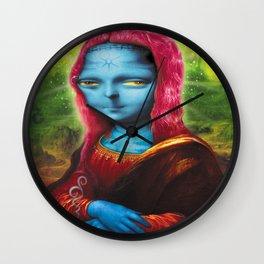 Blue Mona Wall Clock