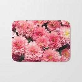 Autumn Kiss Chrysanthemums #1 #floral #art #Society6 Bath Mat