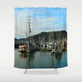 La Push Marina Shower Curtain