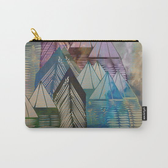 Triangular Endings on the Top Above the Clouds / Urban 04-11-16 Carry-All Pouch