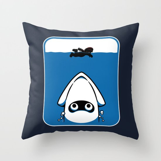 The Great White Blooper Throw Pillow