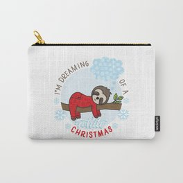 Sloth dreaming of a White Christmas Carry-All Pouch