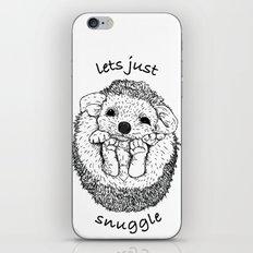Hedgehog snuggle iPhone & iPod Skin