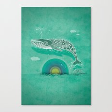 Whale Future Canvas Print