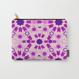 Purple Arabesque Carry-All Pouch