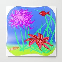 Starfish Under the Sea Metal Print