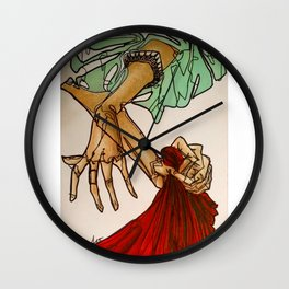 Hands (Breathe in, breathe out) Wall Clock