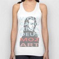mozart Tank Tops featuring Wolfgang Amadeus Mozart by César Padilla