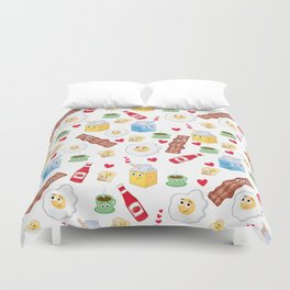 Breakfast in Love Duvet Cover