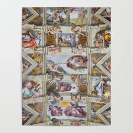 "Michelangelo ""Sistine Chapel ceiling"", Poster"