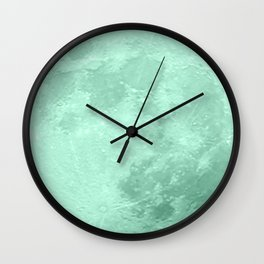 TEAL MOON Wall Clock