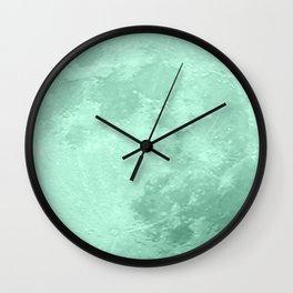TEAL MOON Wall Clock