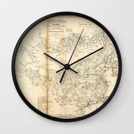 Map of China Chinese-Tartary & Tibet (1834) Wall Clock