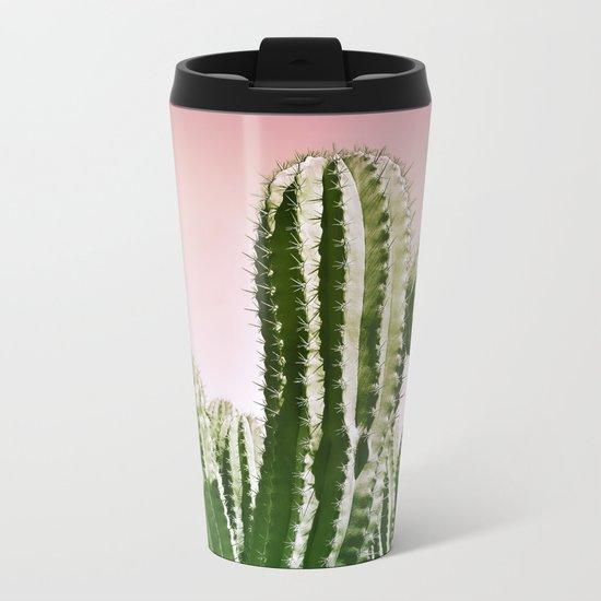 Love Summer Cactus Metal Travel Mug
