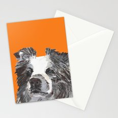 Border Collie printed from an original painting by Jiri Bures Stationery Cards