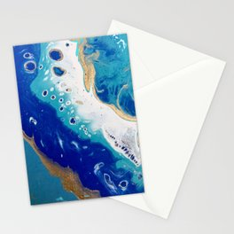 caribbean swirl Stationery Cards
