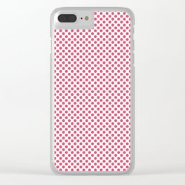 Honeysuckle Polka Dots Clear iPhone Case