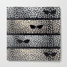 ANIMAL PRINT CHEETAH DIVA BLACK AND WHITE Metal Print