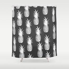 Pineapple Pattern - Dark Grey Shower Curtain