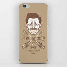 Ron Swanson Canoe Camp (dirty brown variant) iPhone Skin